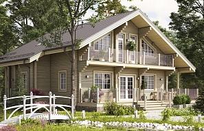Дом из бруса — просто и практично