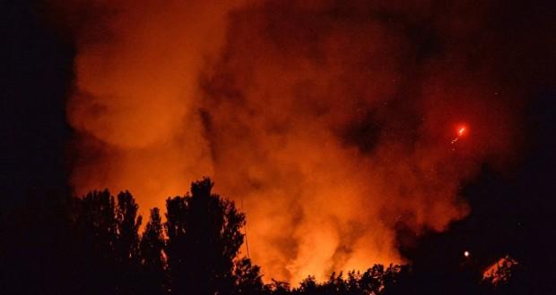 Власти Украины резервируют 3 тыс мест в отелях для живущих у горящего склада боеприпасов