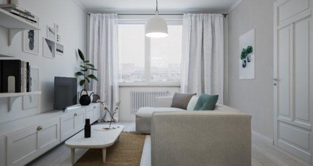 Квартира в скандинавском стиле для молодой пары с ребенком